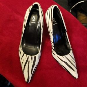 Bakers zebra print stiletto, no scuffs on the heel